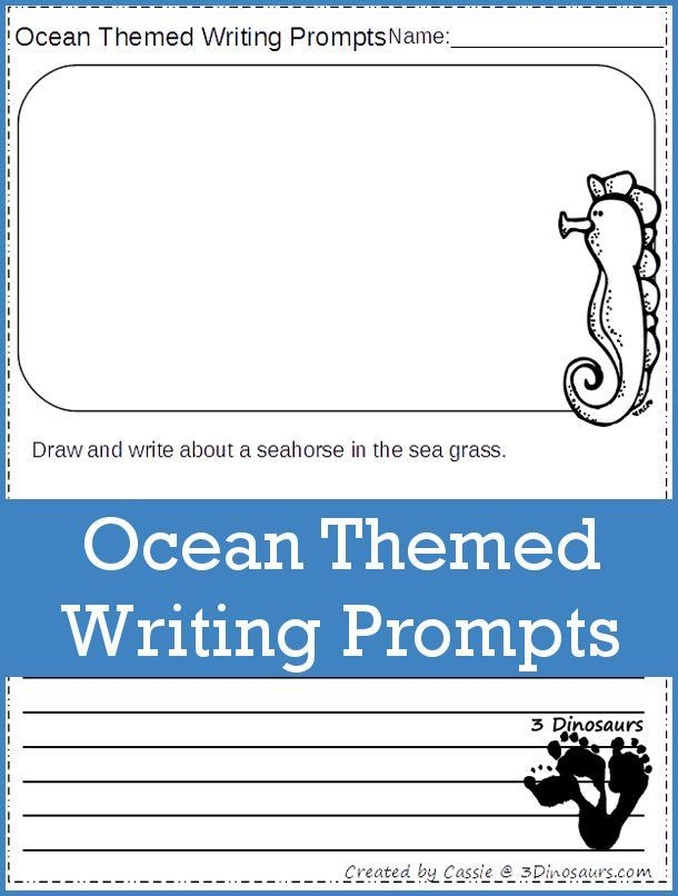 Ocean Themed Writing Prompts | BEST of KIDS and PARENTING ...