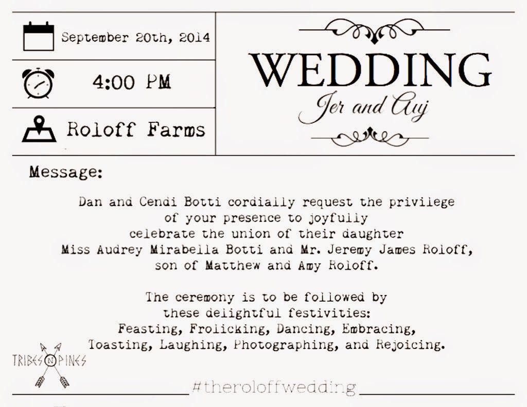 How Big Are Wedding Invitations: Wedding Invitation For Jeremy