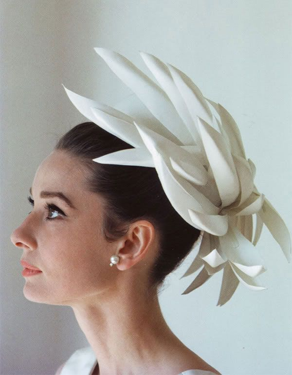 Audrey Hepburn in a wild fascinator.  vintage  style  photography ... 988a488836a