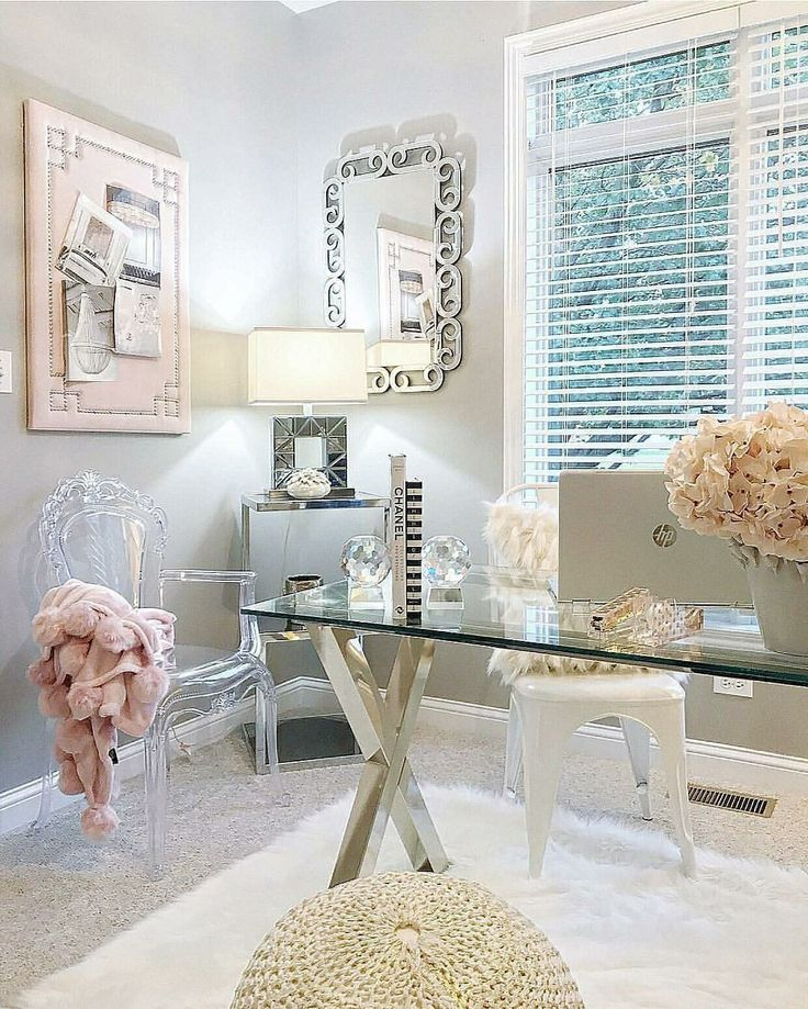 Feminine Office Decor, Home Office Design