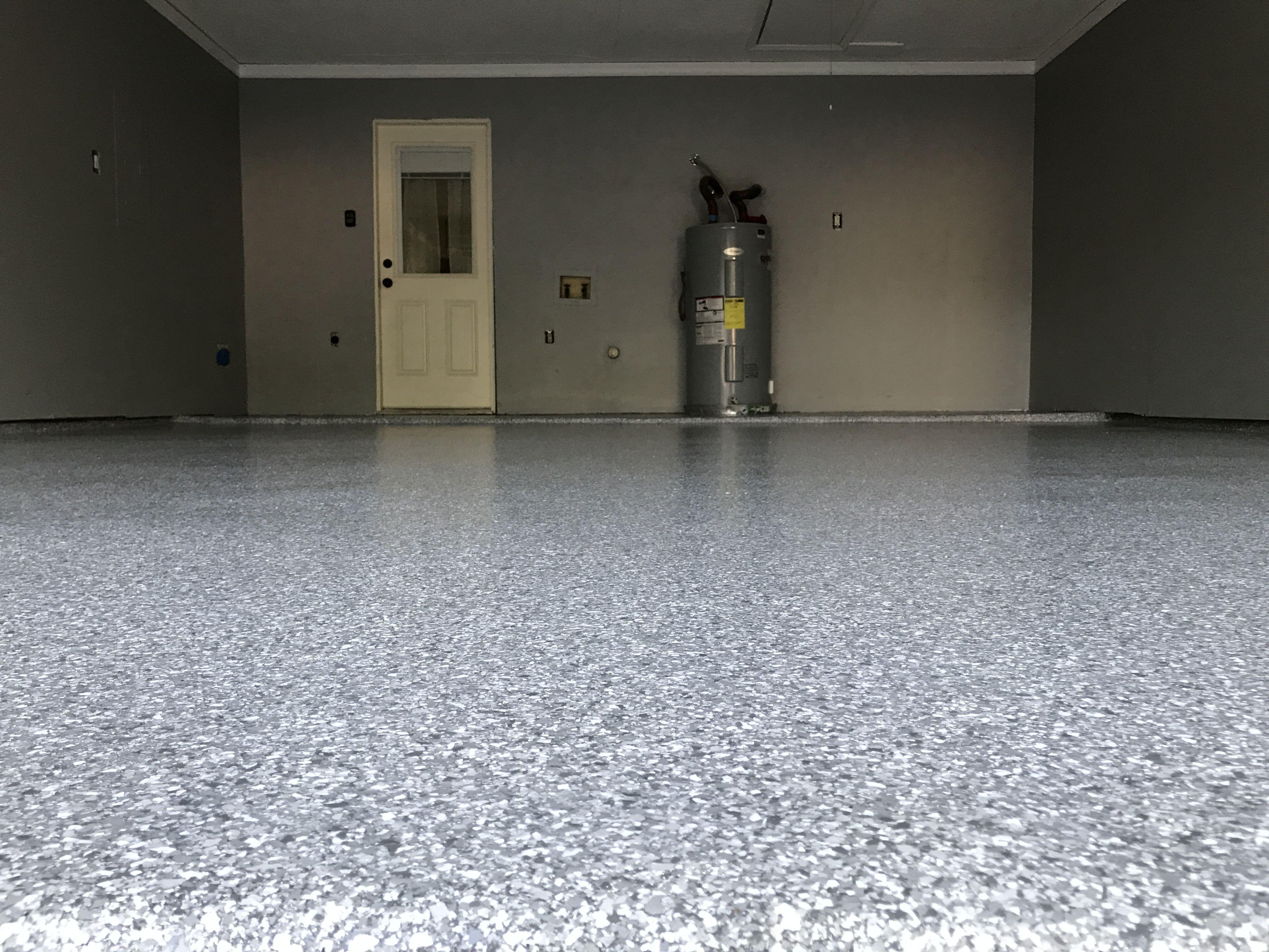 50 Year Old Garage Floor Looking New Epoxy Polyaspartic Garage