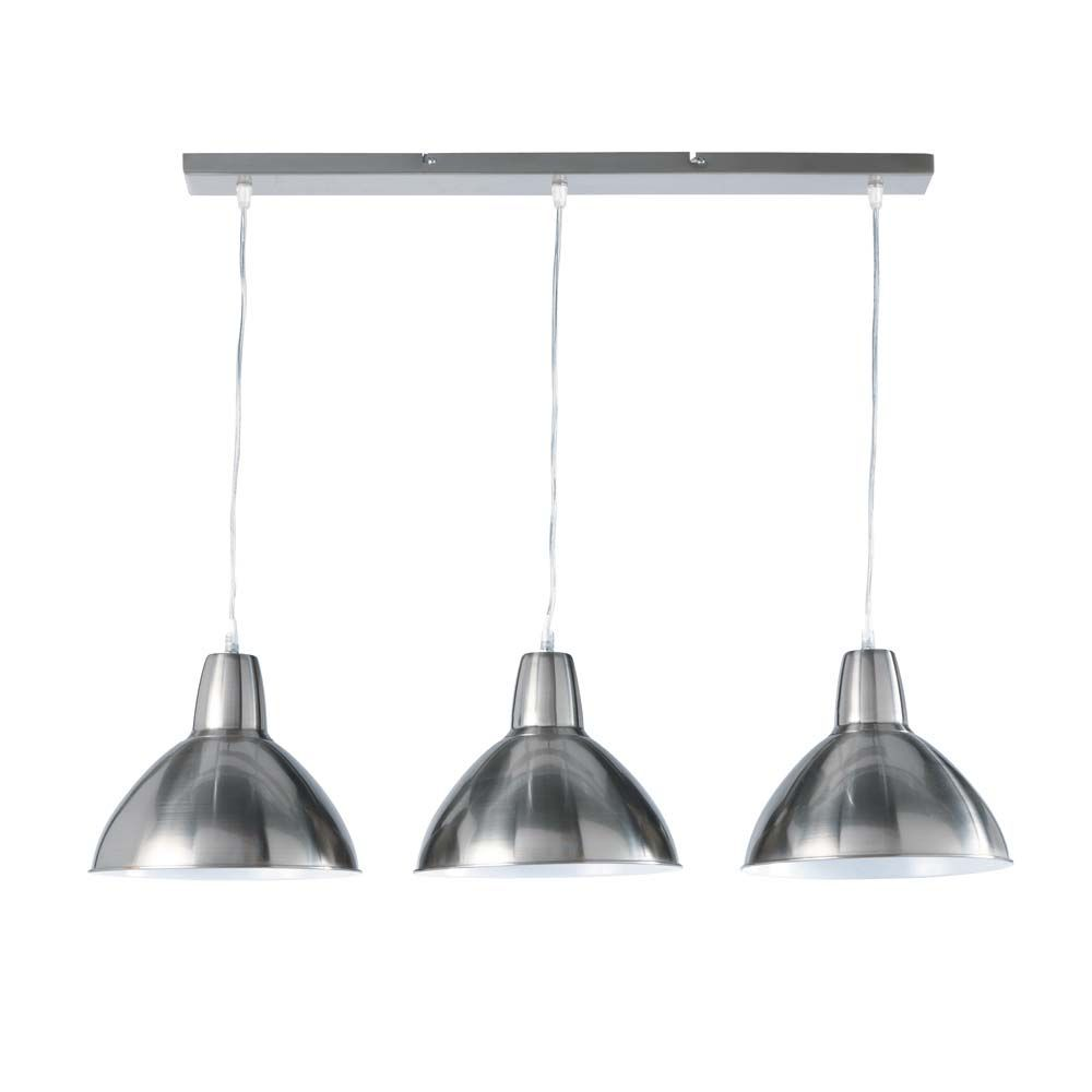Suspension triple r glable en m tal l 95 cm r glable - Lampes de cuisine suspension ...