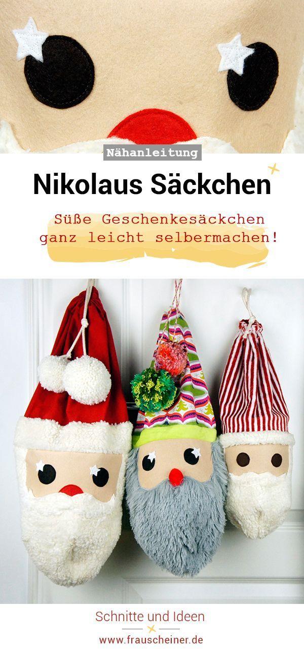 Nikolaussäckchen | Nikolausstrumpf, Nikolaussack und Witzige geschenke