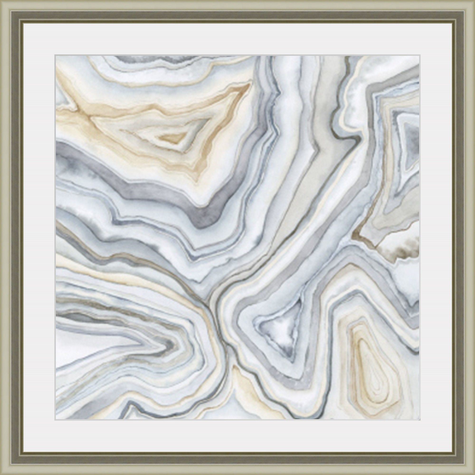 Agate Abstract Ii Framed Painting Print Abstract Wall Art Prints Painting Frames