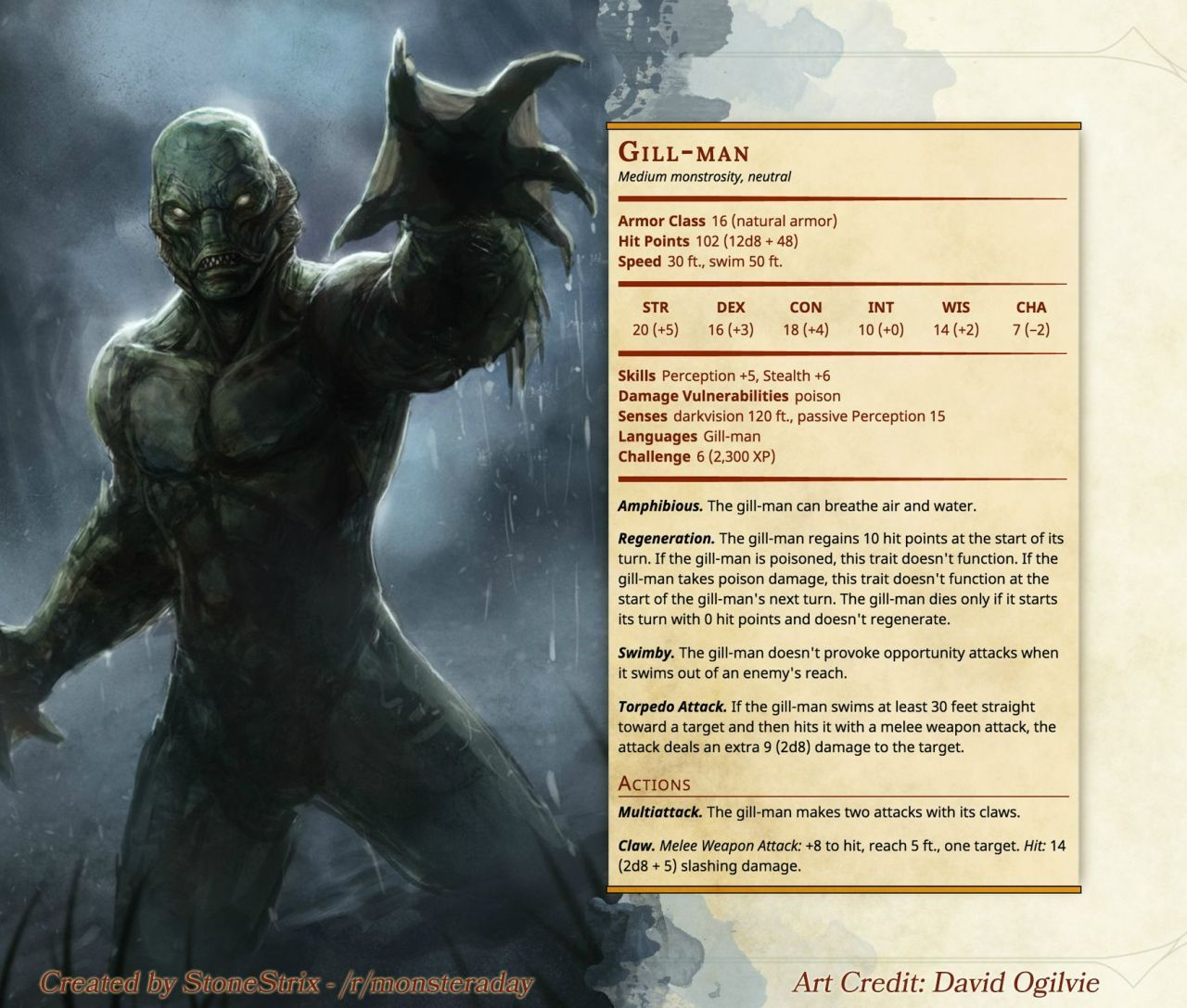 DnD 5e Homebrew — Monsters by Stonestrix | Dnd stuff | Witcher