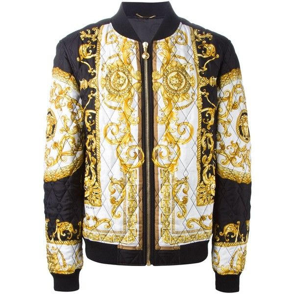 Versace Baroque Print Quilted Bomber Jacket Luisa Boutique 2 950