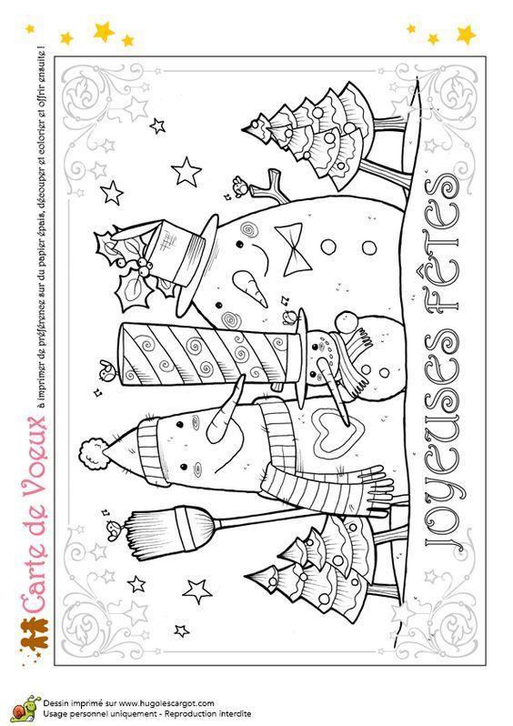 DIY Noël Activités & Déco | Coloriage noel, Carte noel maternelle