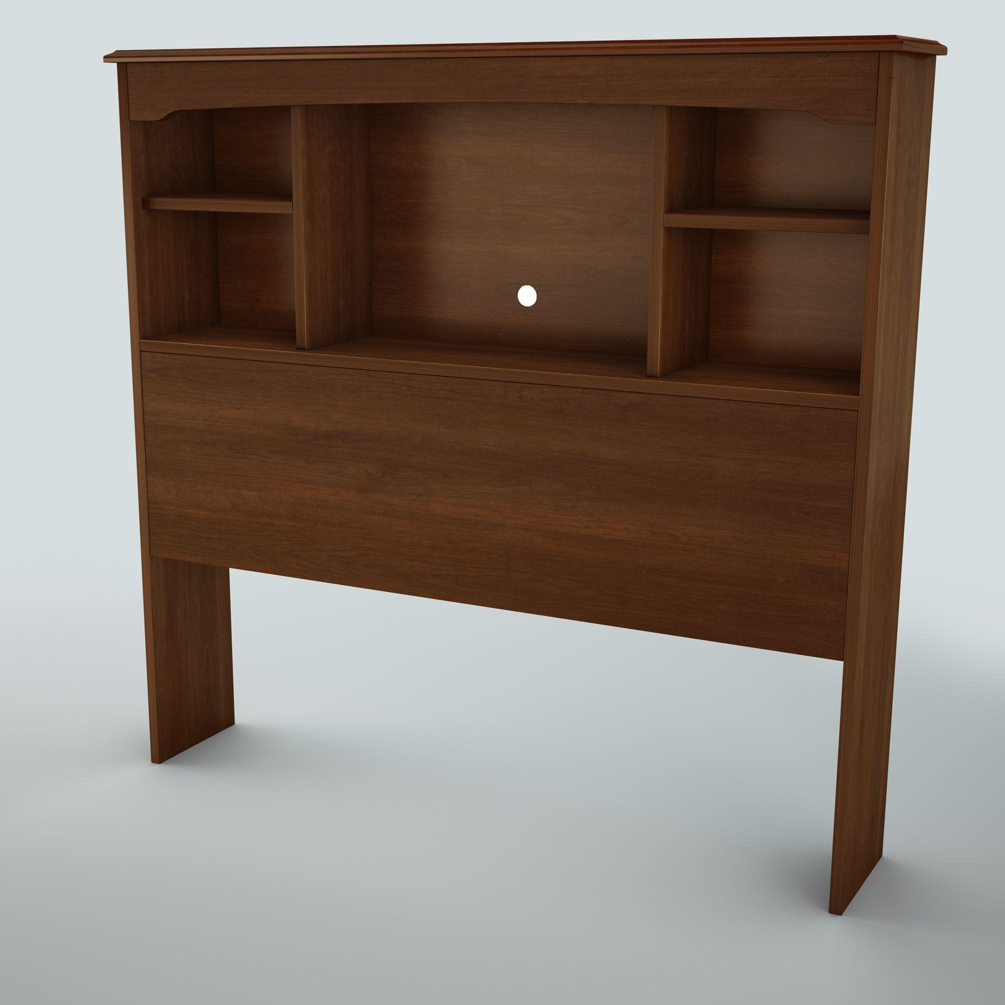 Twin Bookshelf Headboard Brown Color Dengan Gambar