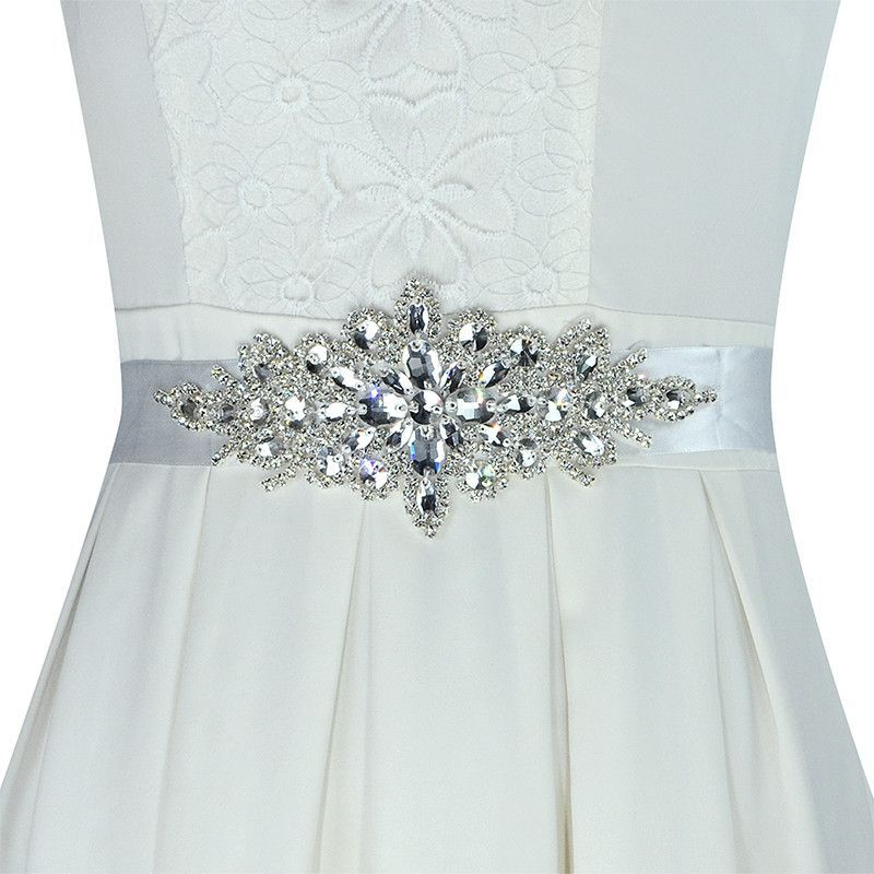 Handmade Elegant Crystal Rhinestone Wedding Dress Waistband