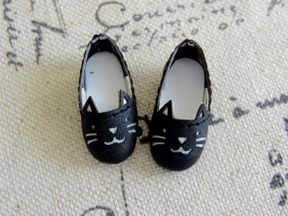Blythe doll kitty cat shoes for Azone pure by PetiteAppleShop