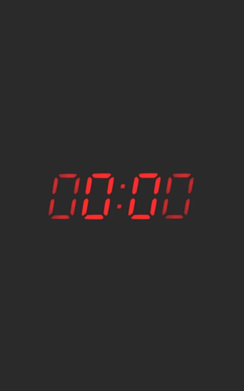 Wallpaper Zero Clock Time Count Clock Wallpaper Night Aesthetic Digital clock live wallpaper
