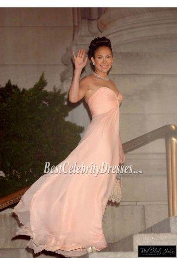 Jennifer Lopez Pink Strapless Prom Dress In movie 'Maid In Manhattan' BCD2413
