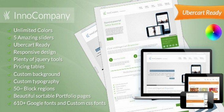 InnoCompany Corporate Responsive WordPress Theme #premium wordpress ...