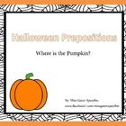 Free! Halloween pumpkin prepositions