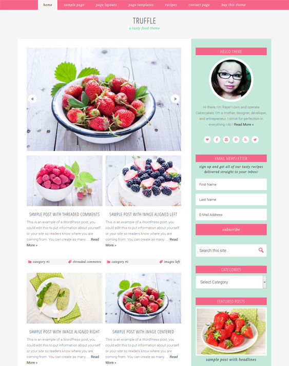 This food and recipe wordpress theme offers 3 layout options social 5 of the best wordpress themes for food recipe websites forumfinder Gallery