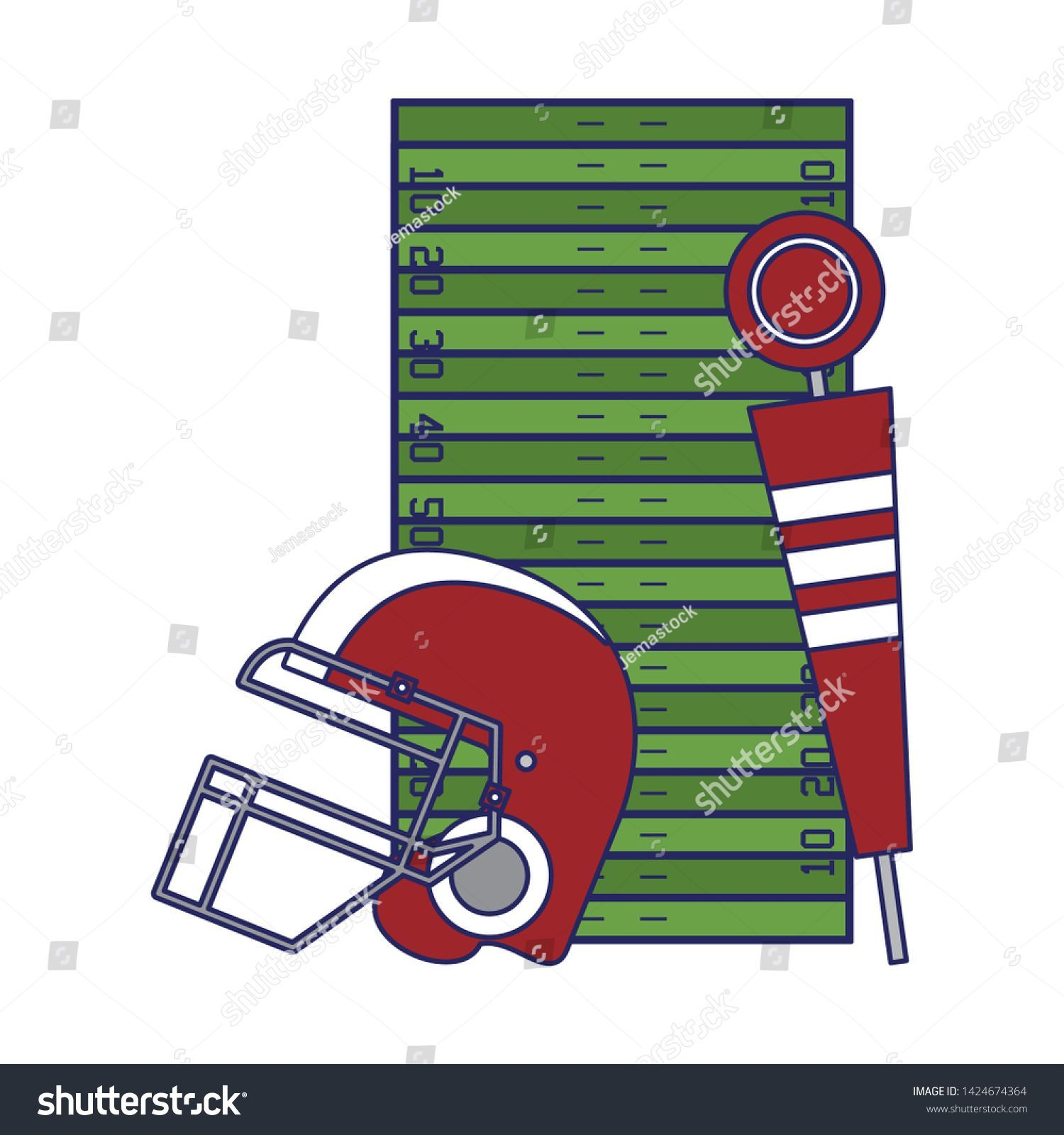 American Football Sport Helmet Pitch Marker Stock Vector Royalty Free 1424674364 American Football Sport Helmet Pitch Marker Stock Vector Royalty Free 1424674364
