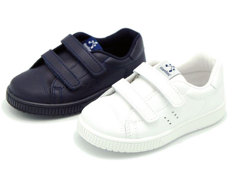 Tienda online de calzado infantil Okaaspain. Zapatilla de piel lavable  Titanitos con doble velcro. Calidad y precio hecho en España. df21b187ab3