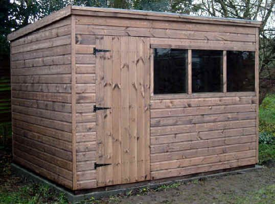10 X 8 Pent Roofed Garden Shed Old Shed In 2019