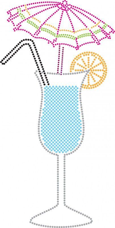 Cocktail   Print   Pinterest   Bordado, Moldes y Puntillismo