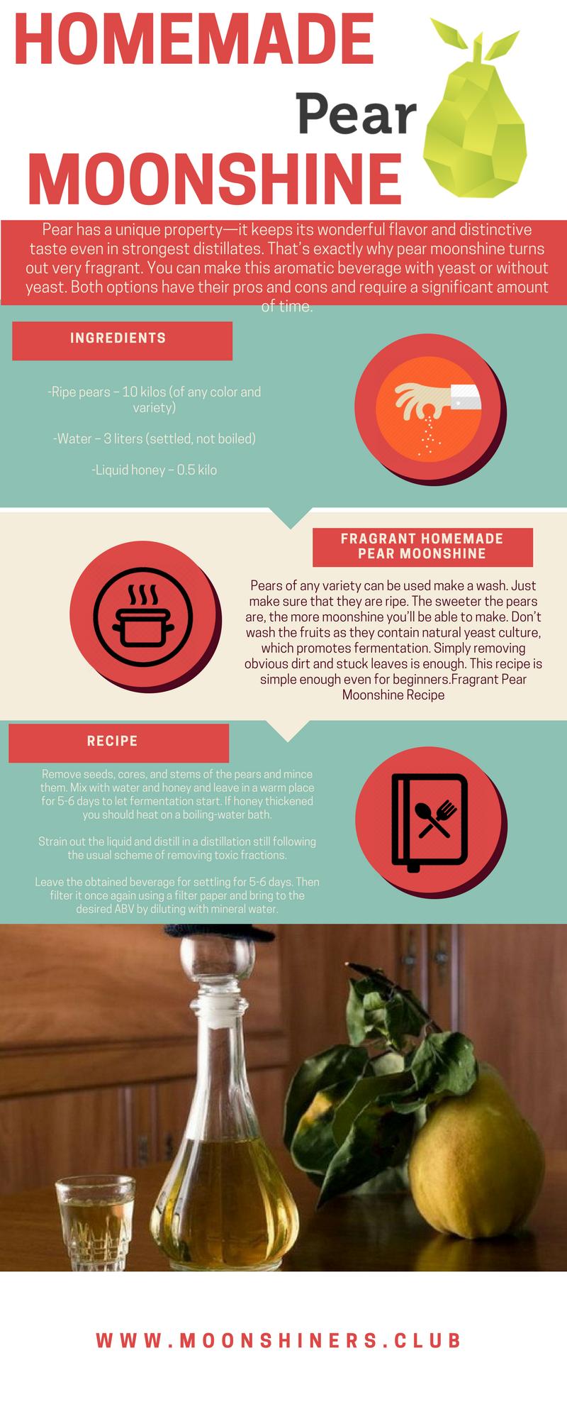 Pear Moonshine Recipe Diy Per Moonshine Easy And Fast Moonshine Recipes Moonshine Recipes Homemade Moonshine Mash Recipe