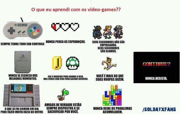 O que aprendemos com os Vídeos Games!  http://acessogames.com.br/