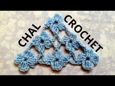 Como tejer un Chal triangular en tejido crochet tutorial paso a paso ...