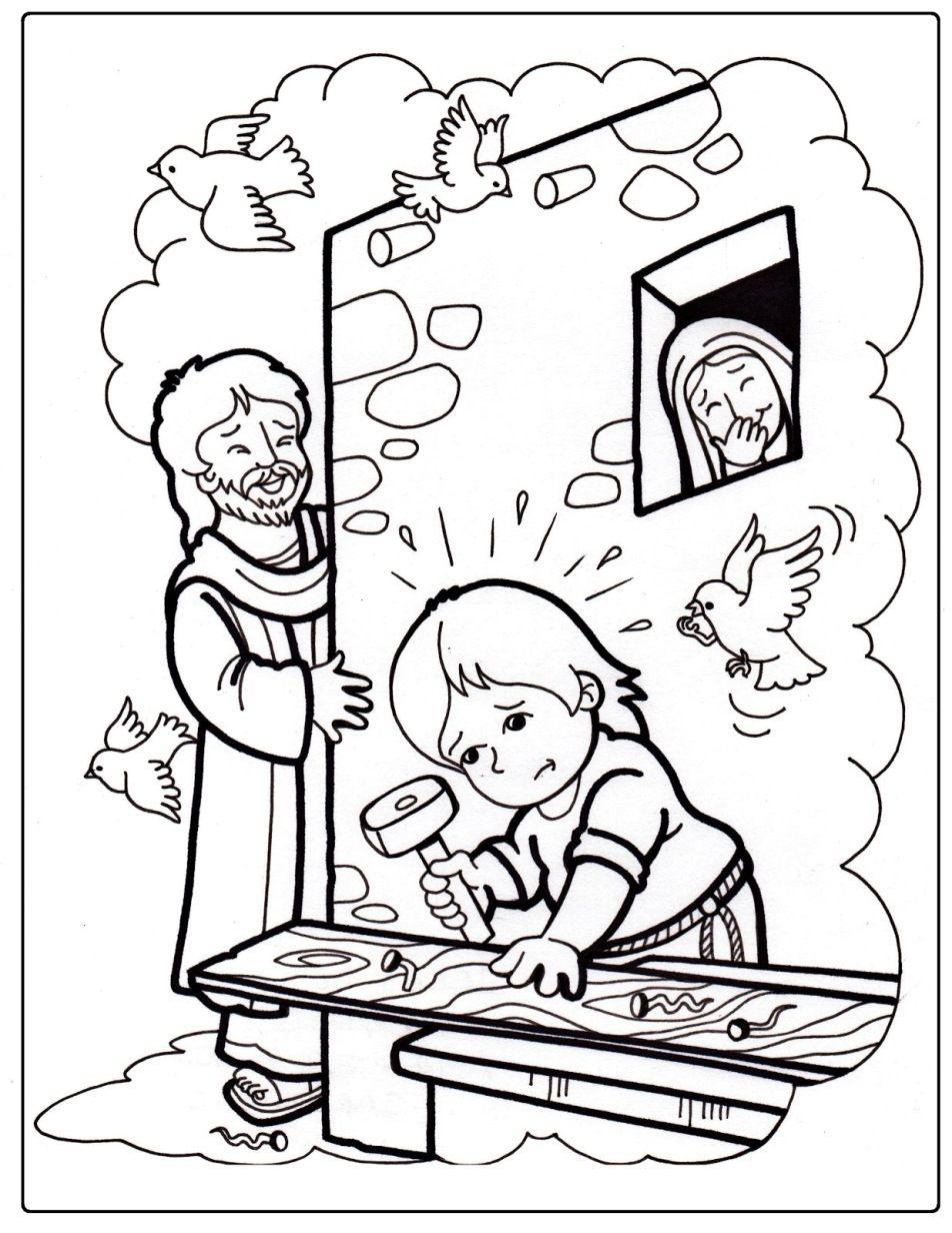 Infanzia di ges disegno da colorare colegio pinterest - Artigianato per cristiani ...