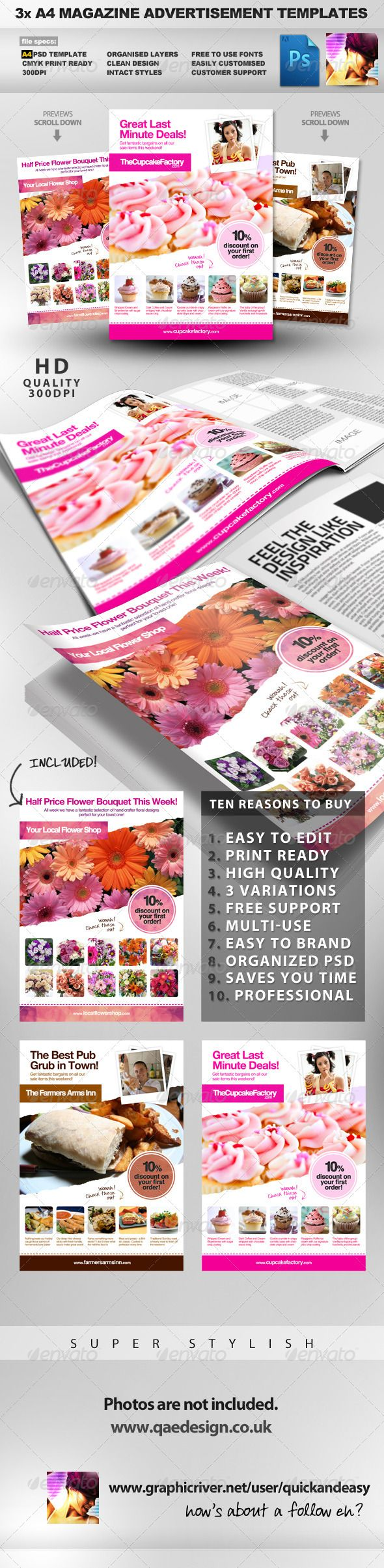 free magazine advertisement template
