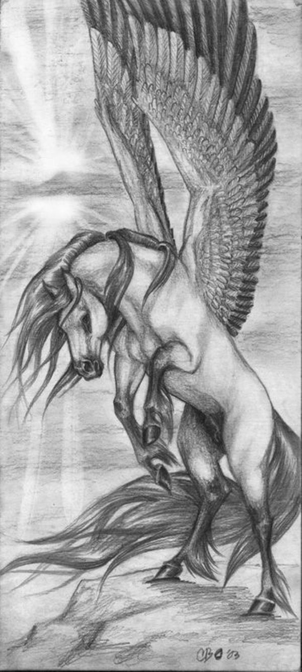 Amazing Horse Tattoo tattoo ideas Pinterest Pegasus