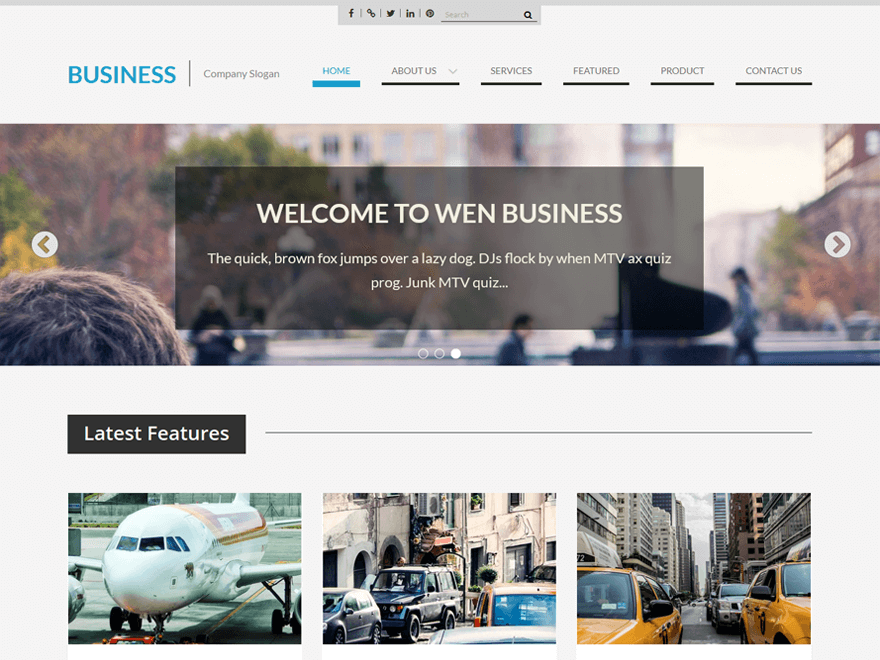 WEN Business | Best Free Business Theme | Pinterest | Business and ...