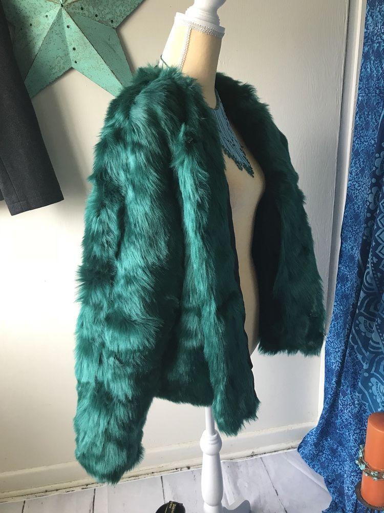 NWT Women's Mossimo Teal Faux Fur Jacket XXL | eBay
