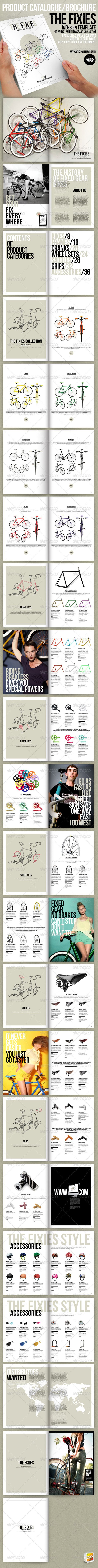 The Fixies-Product Catalogue InDesign template | Diseño editorial ...