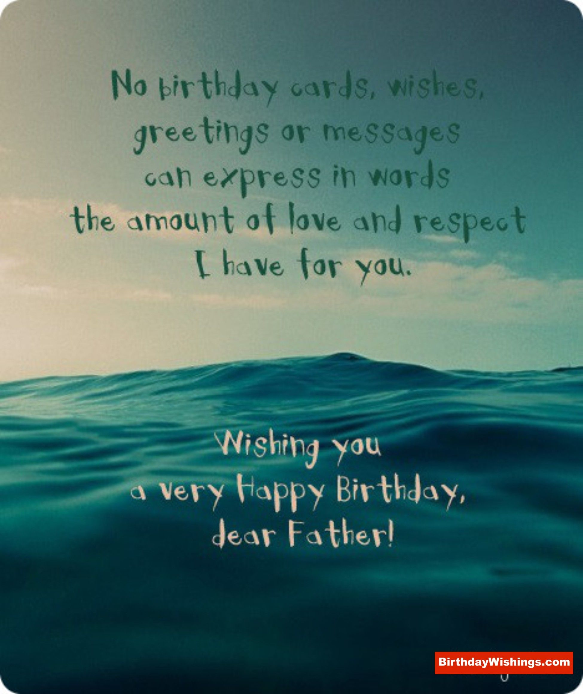 Wish A Happy Birthday To Dear Father Birthday message