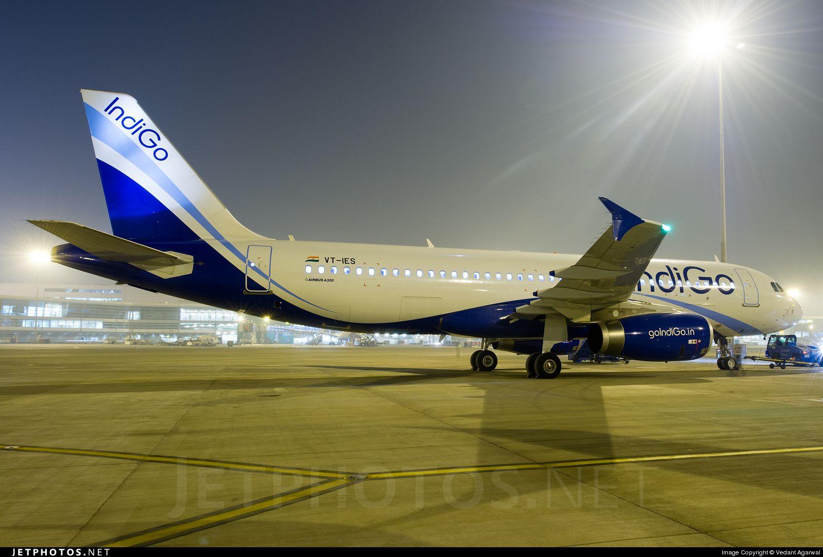 Indigo Airbus A320232 VTIES 5090 Delhi Indira Gandhi Int