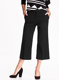 High-Rise Wide-Leg Cropped Trousers - in different colors?