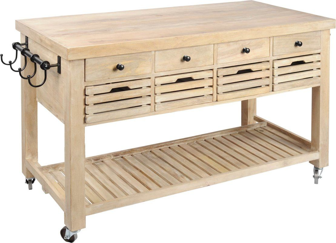 Kolossi Kitchen Cart In 2020 Kitchen Island With Drawers