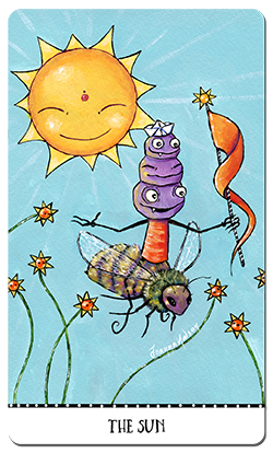 The Monstarot is a 78-card deck of little monsters, helpful bugs and whimsical creatures such as bunny-flies and flynosaurs. It's a light-hearted and positive deck suitable for children, but especially for connecting to your inner child. Funding now through Kickstarter.