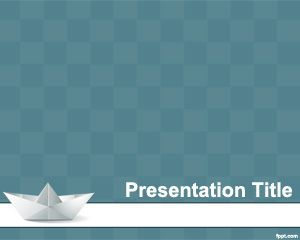 Free paper craft powerpoint template with paper craft and origami free paper craft powerpoint template with paper craft and origami image and blue background with small squares toneelgroepblik Gallery