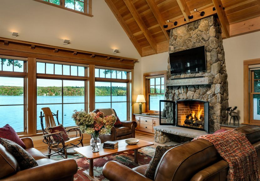By the water maine lake house new england living in