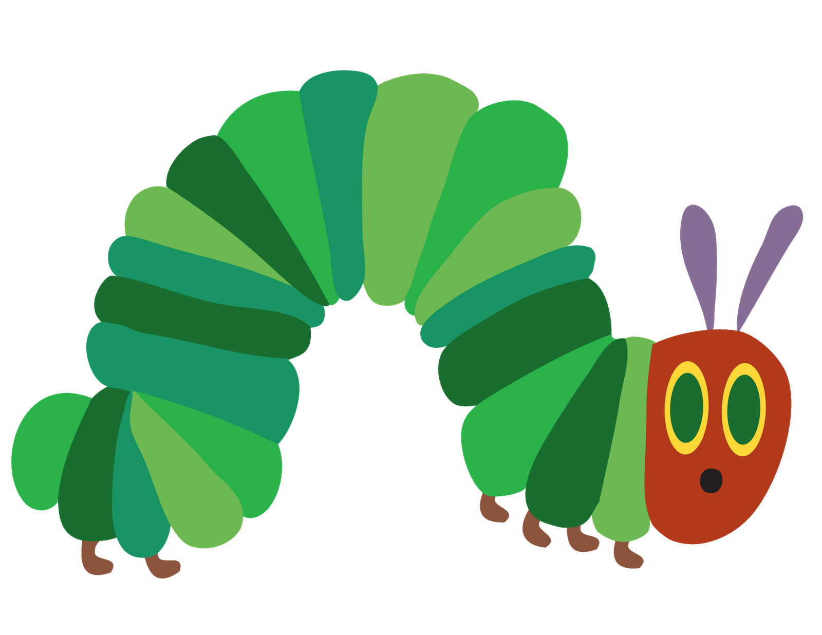 Colored paper caterpillar   Just for the Little Ones   Pinterest