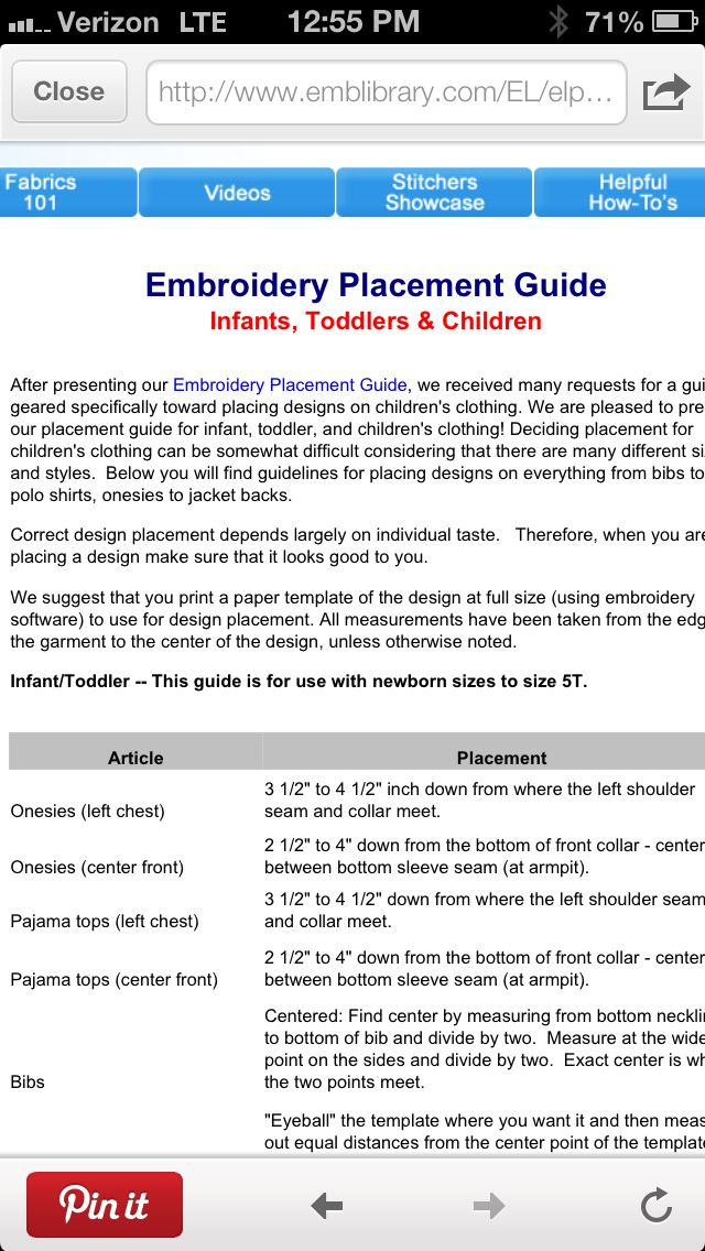 picture about Printable Embroidery Placement Ruler known as Pin by way of EllieO upon Embroidery Assistance Sewing gadget embroidery