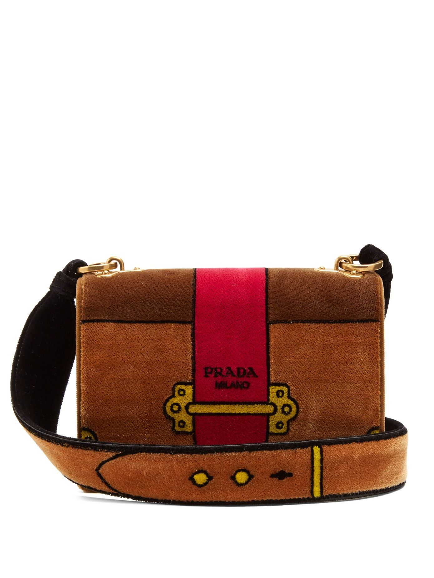 d9b04654461c Click here to buy Prada Cartoon velvet shoulder bag at MATCHESFASHION.COM