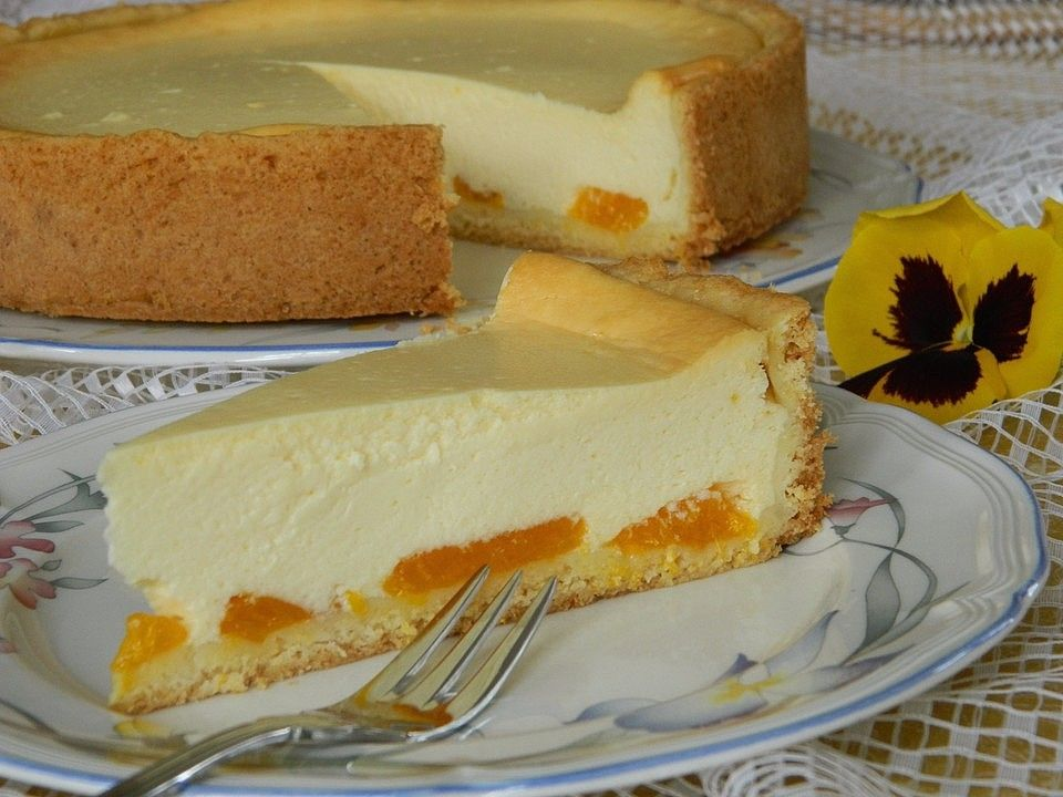 Himmlischer Käsekuchen mit Buttermilch #caramelapplecheesecake