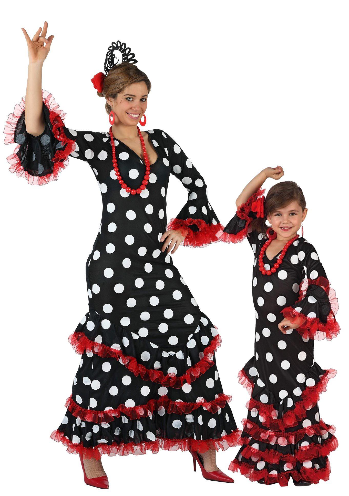 b08cc59cf Disfraz de pareja Flamenca: Disfraz de flamenca para niñaEste ...