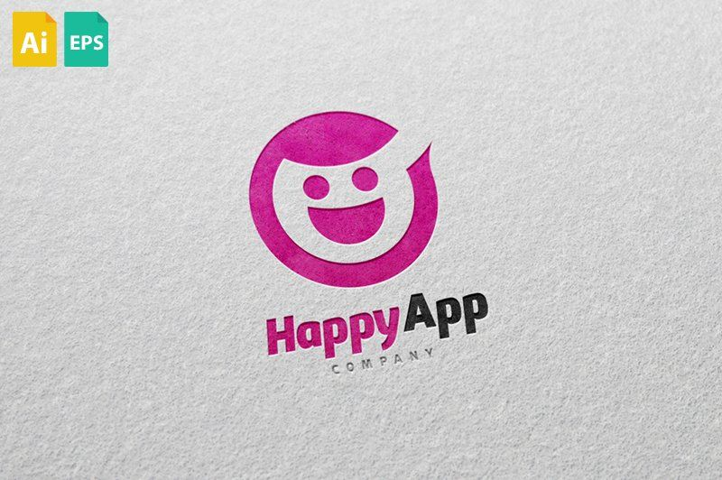 Happy App Logo With Images App Logo Happy Logo Logo Design Template