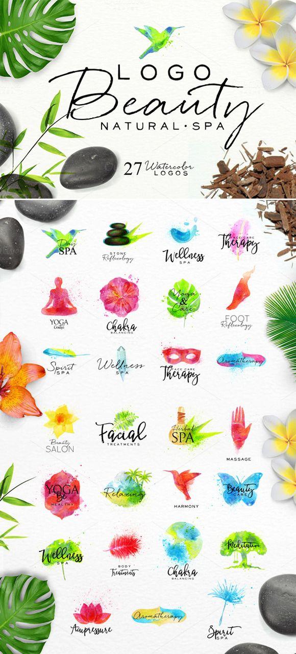 Logo Beauty Natural Spa by Anna on creativemarket