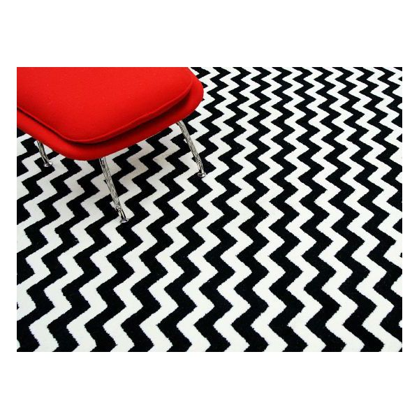 Home Value Chevron Black Rug | Contemporary Rugs
