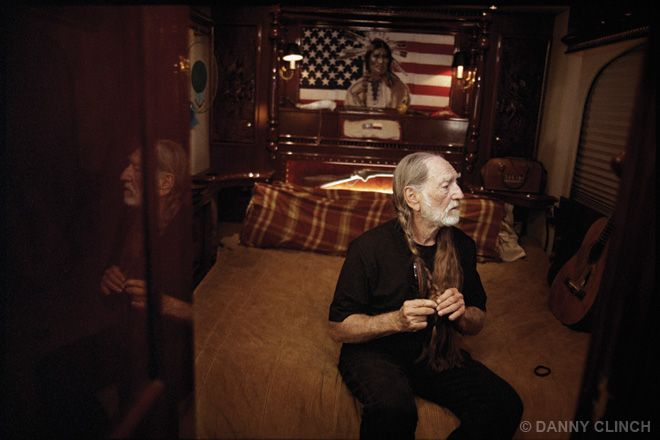 willie nelson 2005... willie's tour bus is his home more so than any place...
