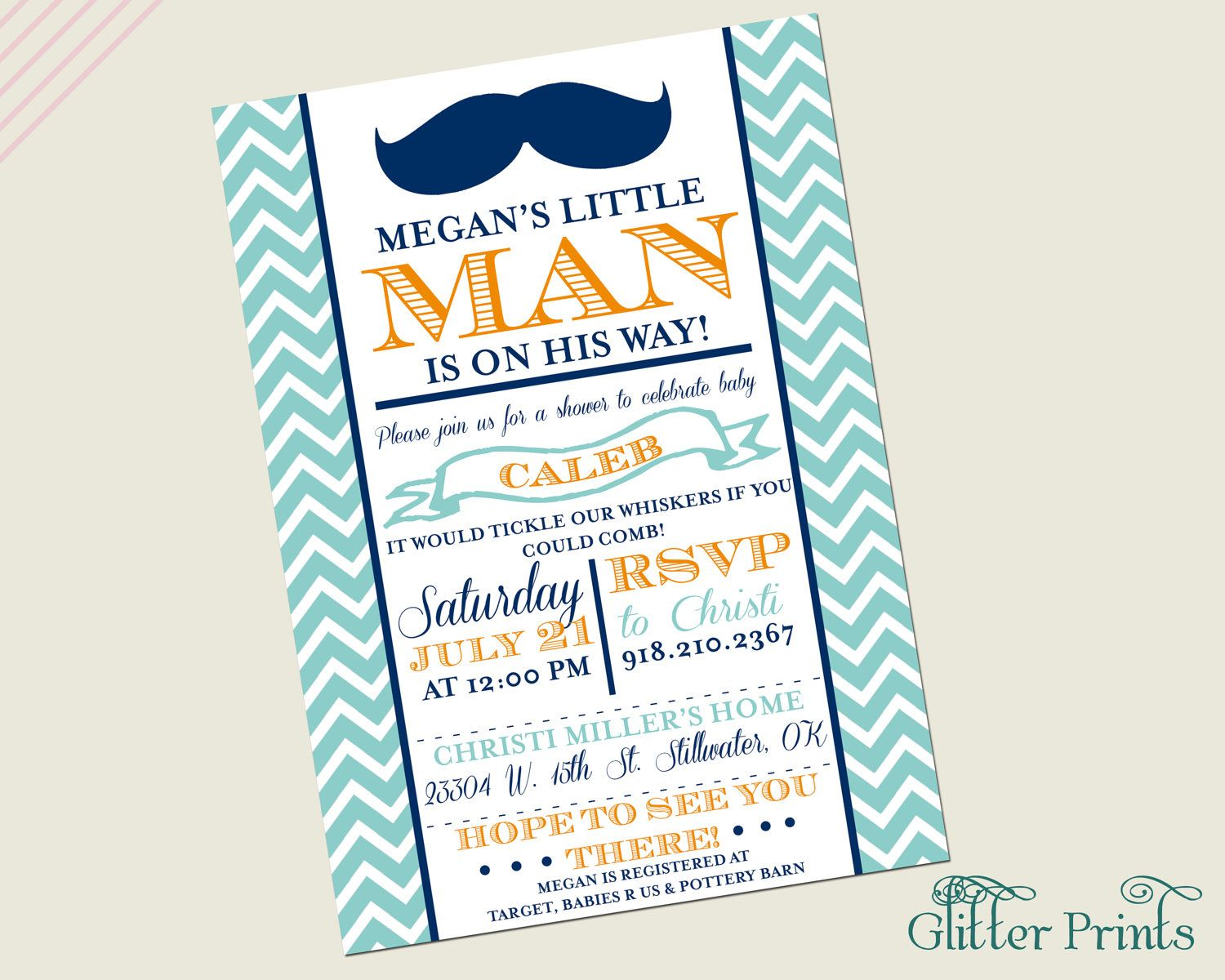 Love it! Little Man Mustache Baby Shower Invitation. via Etsy ...