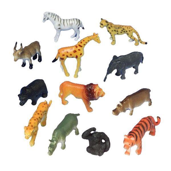 Rhinoceros Giraffe Plastic Jungle Zoo Wild Animal Kids Party Toy Xmas Gifts
